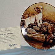 """Butterscotch and Brownie"" Larry Chandler Puppy Portrait Collection by Lenox Labrado"