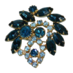 Fantastic blue rhineston brooch
