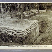 World War One Trenches Camp Sheridan Montgomery Alabama