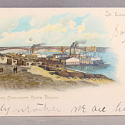 1908  Postcard Eads Bridge  Mississippi River St. Louis, Mo.  undivided back