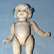 Bisque doll with wired moveable joints Made in Japan