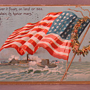 1909 Tuck's Decoration Day postcard American flag