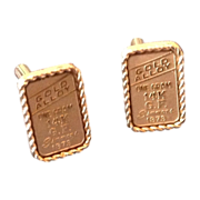Gold alloy rectangular cuff links 1 gram 14K Gold Filled Simmons