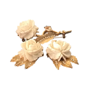 BSK Rose Earrings and Pin set