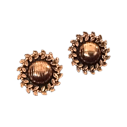 Renoir copper clip earrings