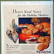 Diamond Walnuts Magazine Advertising 1929