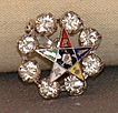 Eastern Star Rhinestone Pin