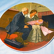 """Cradle of Love"" Normal Rockwell 1980 First Edition Collector Plate"