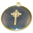 c1938 Crucifix Under Convex Glass