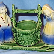 Shawnee 710 Wishing Well  Figural Planter with Dutch Boy and Girl
