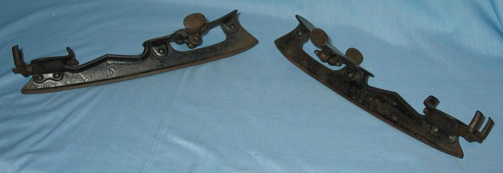 Unusual Old Adjustable Cast Iron  Ice Skates  Pat. 1878