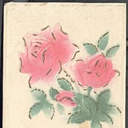 Post Card Best Birthday Wishes With Embossed Roses