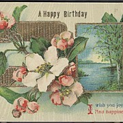 Postcard 1914 A Happy Birthday Saxony Post Card