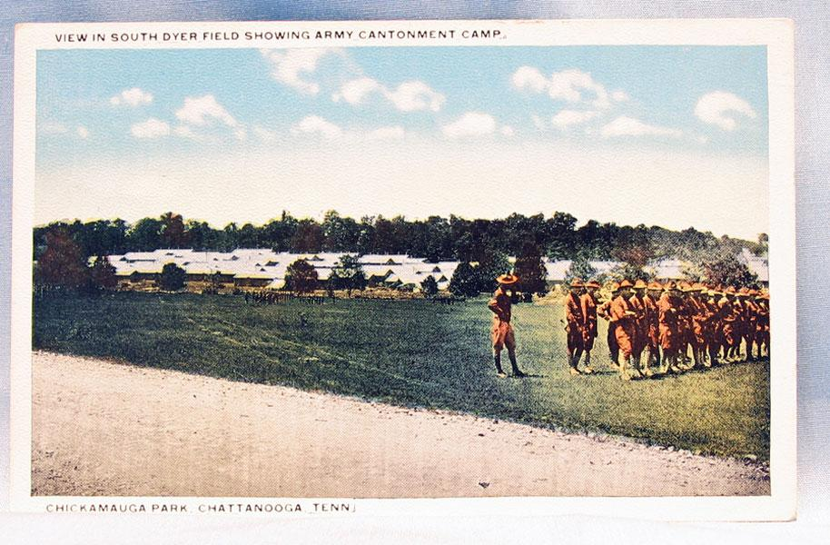Postcard Army Cantonment Camp Chickamauga Park World War I
