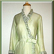 Vintage 1960�s Mint Green Silk Dress by Sylvia Ann