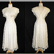 1980�s Scott McClintock Romantic Lace Dress