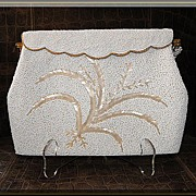 1960�s White Beaded Wedding/Evening Bag