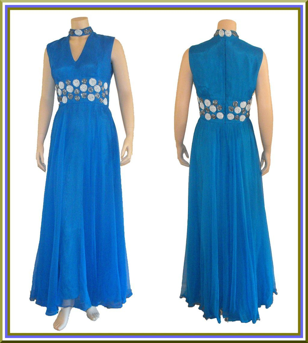 1960's Designer Beaded Evening Gown by Darieux, Paris-New York