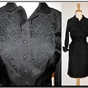 1960�s Black shirtwaist dress by Abby Kent