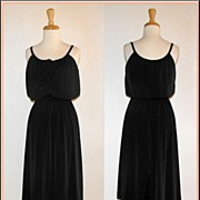 1970�s Black Disco Dress