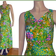 1970�s Flower Power Maxi Sundress by Mister Robert