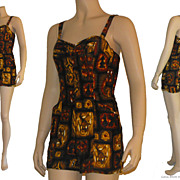 Vintage 1950s Miss Hawaii by Kamehameha Swim/Playsuit