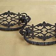 REDUCED Pair of Vintage Brass Drawer Handles