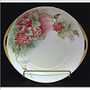 Hermann Ohme Silesia Handled Poppies Cake Plate, c1920