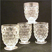 SOLD Fostoria American Footed Tumbler, Set of 4