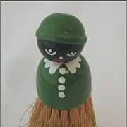 Black Americana Green Clothes or Crumb Brush