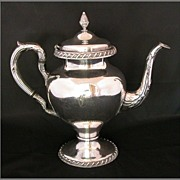 International Silver Co. Wilcox Silver-plate Coffee Pot, �C� Monogram