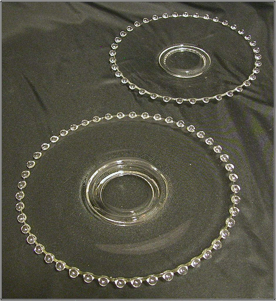 Imperial Glass Candlewick 7' Dessert Plate & 8' Salad Plate