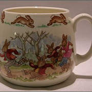 SOLD Royal Doulton Bunnykins Child�s Cup / Mug - Roller Skaters - Red Tag Sale Item