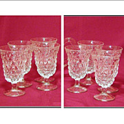 REDUCED Set of 8 Fostoria American 5  Low Water Goblets