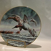 W S George �Canvasback� Collector Plate � Flying Ducks