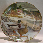 SALE Edwin Knowles China �The Mallard� Collector Plate by Bart Jerner