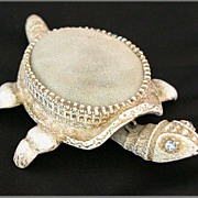 White Florenza Nodding Turtle Pin Cushion