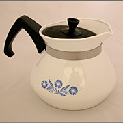 Corning Ware 3 cup Tea Pot Blue Cornflower Teapot
