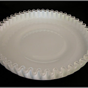 SOLD Vintage Fenton Silver Crest 10 Shallow Round Bowl