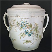 REDUCED Antique Edwin Bennett Bluebells Chamber Pot, Late 19thC