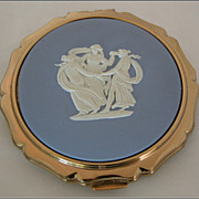 REDUCED Stratton Wedgwood Blue Jasperware �Three Graces� Cameo Compact