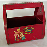 REDUCED Vintage Amsco Shu-Shine Bank for Kiddies, Shoe Shine Caddy