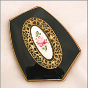 Elgin American Guilloche & Filigree Powder & Rouge Art Deco Compact, c1940