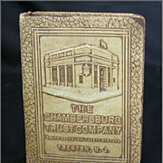 Vintage 1923 Bankers Utilities Leather Book Bank Chambersburg Trust Trenton NJ