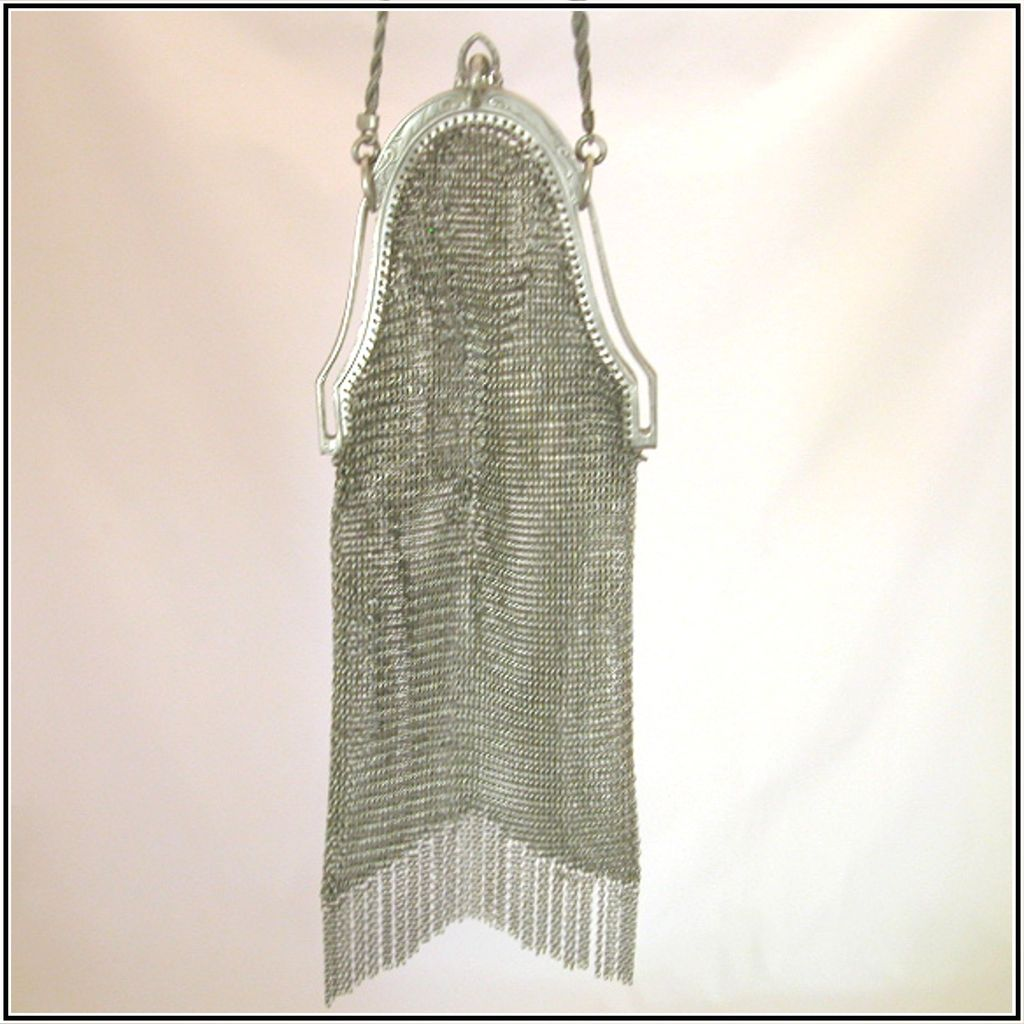 Antique Chain Mail Mesh Evening Bag, c1913