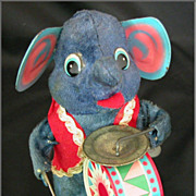 Wind-Up Elephant Drum Toy