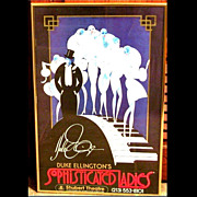 SALE Duke Ellingtons Sophisticated Ladies Framed Poster Shubert Theatre