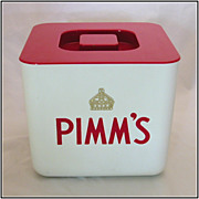 Vintage Pimm�s Liqueur Advertising Red & White Plastic �Supadry� Ice Bucket