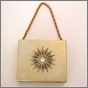 Petite Gold-Tone Starburst Carryall with Powder & Lipstick