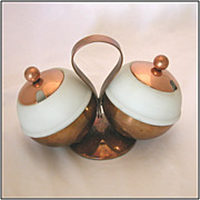 Art Deco Chase Brass & Copper Co. Marmalade and Jam Globes